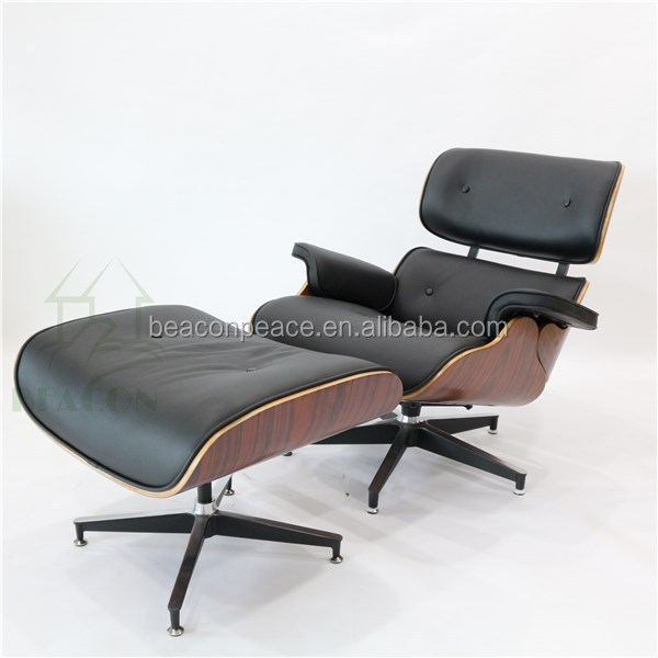 R plique charles cuir salon chaise avec pouf gros chaises for Chaise salon cuir