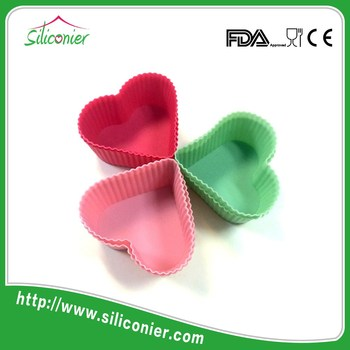 Wholesale heart shape baking silicon cake mould