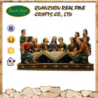 Resin the last supper 3d picture statue