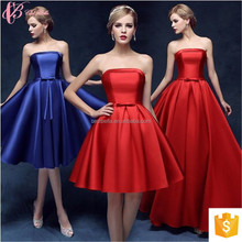 Guangzhou Hot Sale Sexy Light Colored Off-Shoulder Chiffon Plain Dyed Bridesmaid Dress