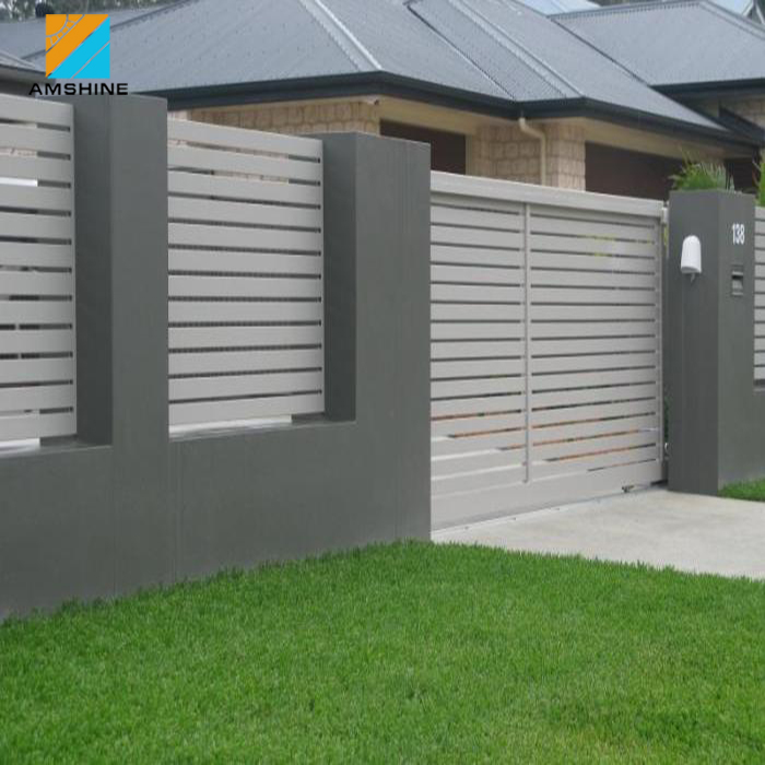 Cheap slat sheet metal fence panels with accessories