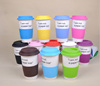 Universal kinds colorful cheap ceramic travel mug cup silicon lid
