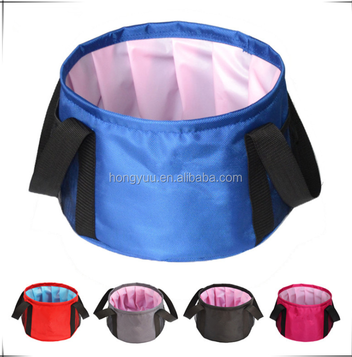 Foldable Water Bag Collapsible Outdoor Folding Hand Foot Wash Basin Portable