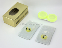 Full package of contact lenses (box and case)
