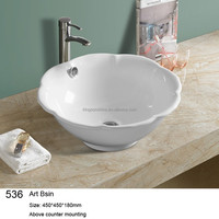 536 one piece bathroom sink and countertop 450*450*180mm