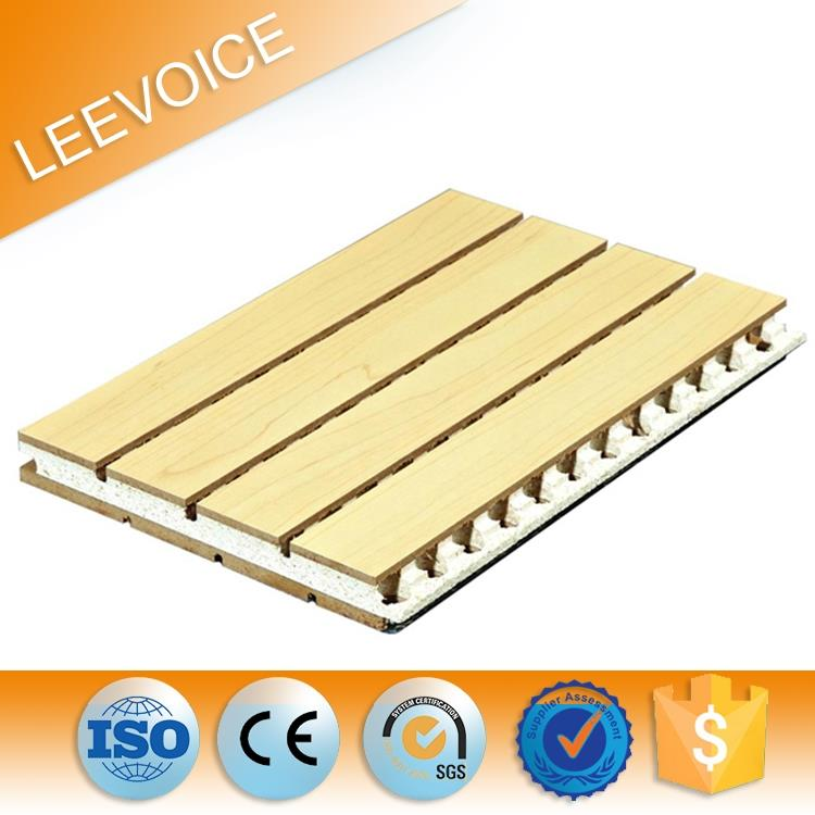 Wooden Groove Acoustic Panel for meeting room in ceiling