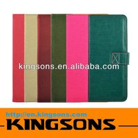 Hot! Fashion design book leather case for ipad micro-fiber lining,smart cover