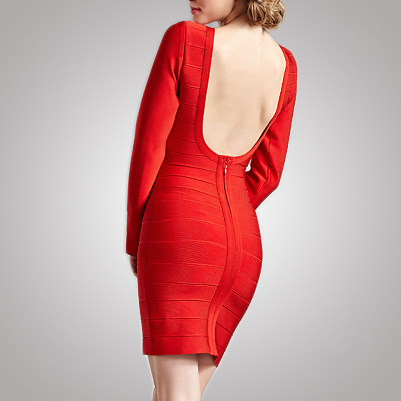 Wholesale designer red one piece bandage party dress for women sexy