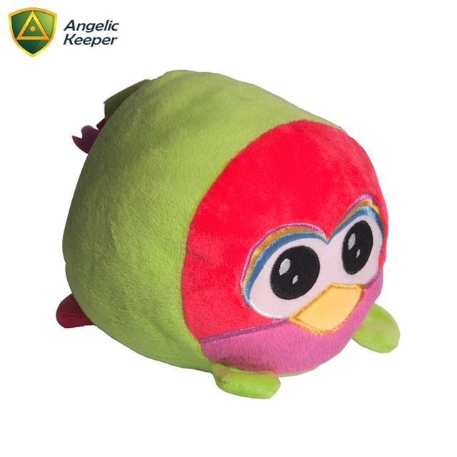 Hot Selling Custom Soft Big Eyes Green Bird Stuffed Plush Toy For Kids