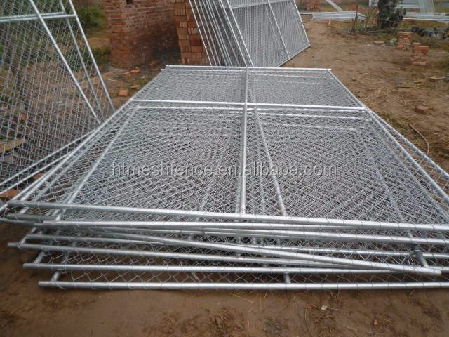 American market hot-dipped galvanized 60*60 mm mesh hole temporary chain link fence