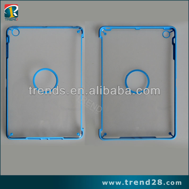 Transparent pc hard cell phone case for ipad mini