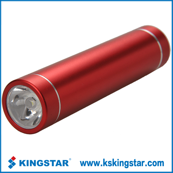 portable 2600mah lipstick power source bank
