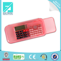 Fupu Custom printing plastic pencil case,PVC pencil case,pencil case calculator with zipper