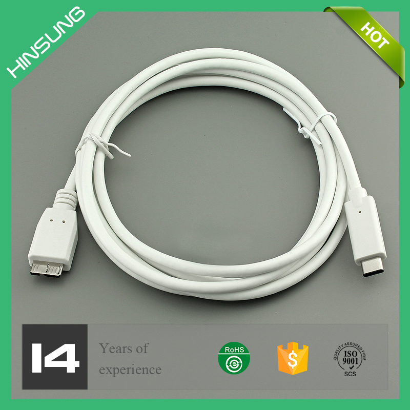 USB 3.1 Type C male to USB3.0 Micro B high speed Cable for Sync,audio,video,charging
