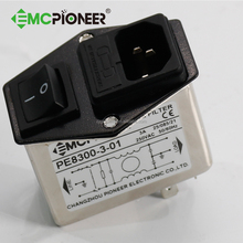 emc absorb AC Socket Fuse holder And Switch EMI Filter for EN Cameras
