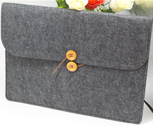 "13"" Wool Felt Laptop Protective Cover, Felt Notebook Bag"