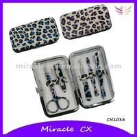 Leopard printed girlsManicure Set/Promotional gift