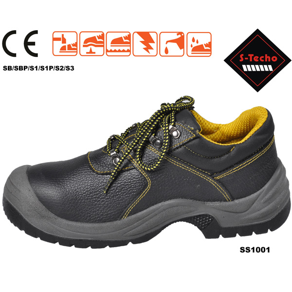 Safety shoes with genuine leather manufacturer