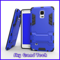 commu ott phone soft gel case TPU+PC Strong Box Case 3 in 1 kickstand armor cover for galaxy note 4