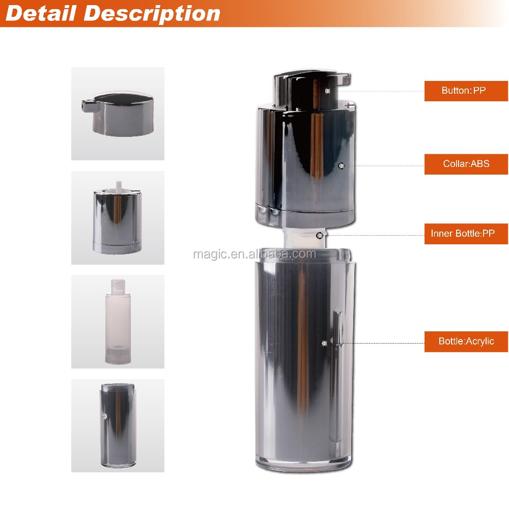 Rotary airless pump bottle, cosmetic bottles
