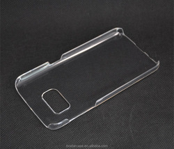 Hard back Plastic Blank Phone Case For Samsung S7 Clear Transparent Case