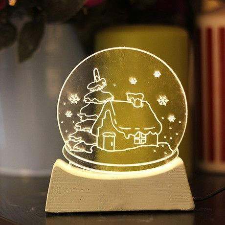 clear acrylic christmas ornament