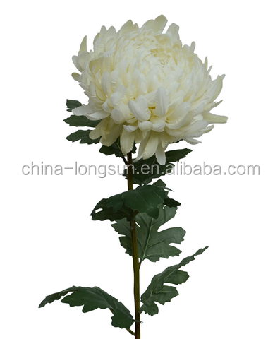 LS16112414 foshan factory wholesale high imitated ornamental white color fake decorative artificial chrysanthemum flowers
