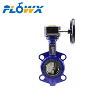 1 inch Soft seat Ductile Cast iron wafer Worm Gear operated butterfly valve