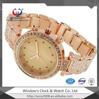 2016 Rose Gold Diamond Women Alloy Watch For Gift