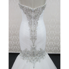 Best Sales Product Mermaid heavy beaded White Lace Wedding Dress