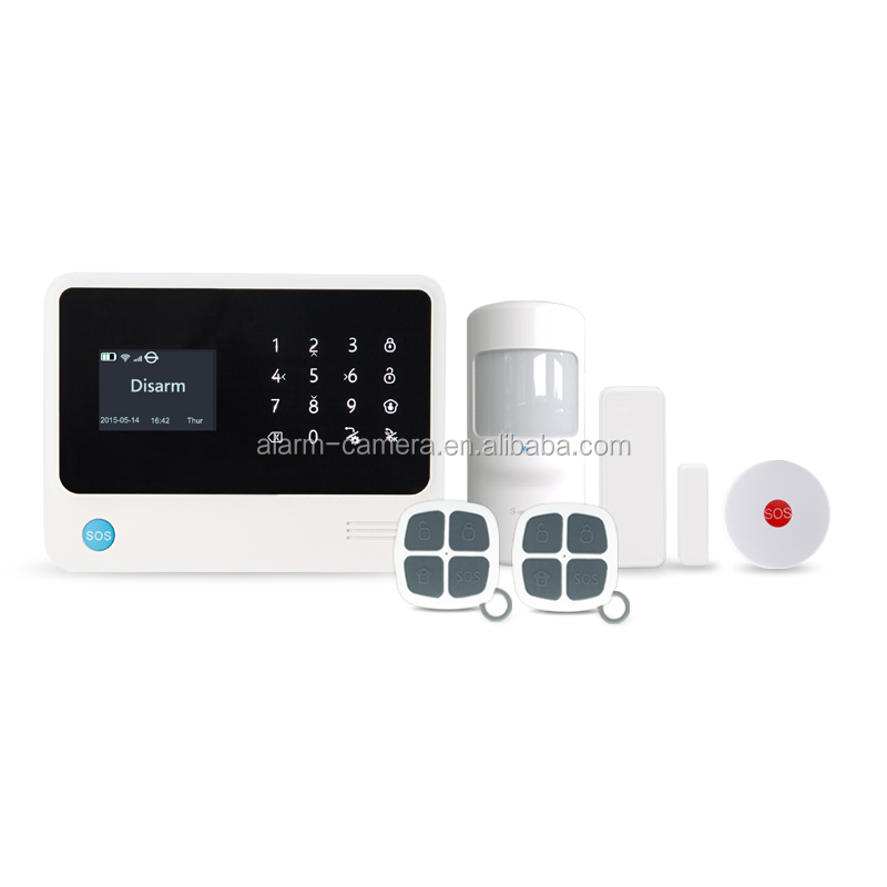 Android/IOS APP remote control Wired&wireless WIFI/GSM/GPRS burglar home alarm system,easy installation