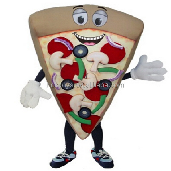 Hola food pizza mascot costume for adult