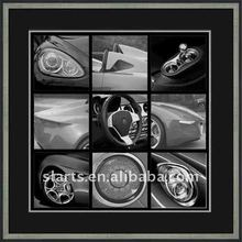 The black and white car wall art picture