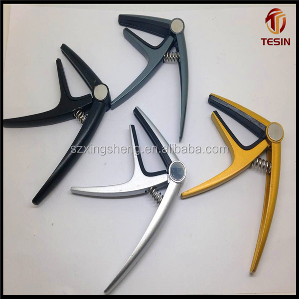 Factory lowest exported all kinds of colors aluminum alloy capo for guitar