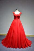 Plus Size Slender Front Belt Long Ladies Red Wedding Dress