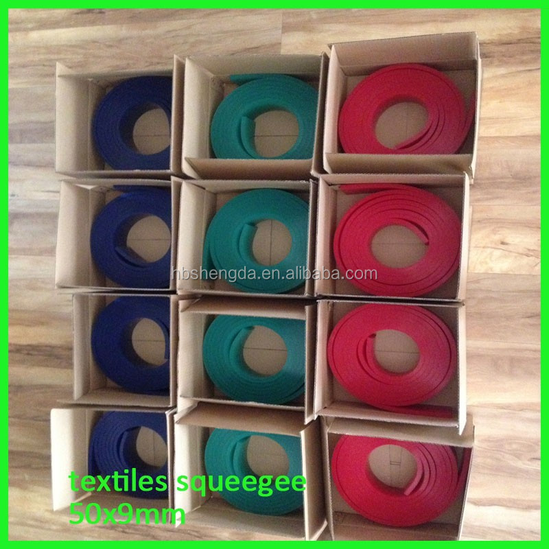 Industrial silk screen printing rubber squeegee blades