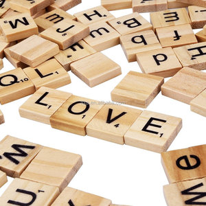 Smooth Wooden Letter Tiles Wood Scrabble Tiles, 100 Pieces
