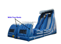 giant double lane inflatable water slide for sale
