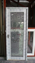 clear tempered glass door