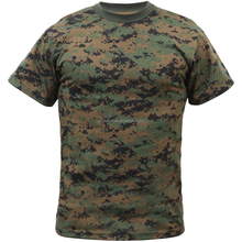 2016 Fashion Design Custom Unisex Cheap Round neck Cotton Wholesale Camo Army T Shirts