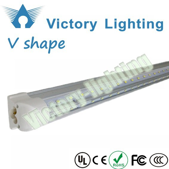 T8 integrated V shaped led cooler light 5ft 32W 360 degree led tube light for Freezer and refrigerator