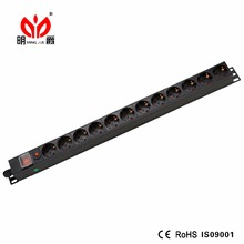 1U German Type Aluminium IP PDU with power distribution unit for Industrial