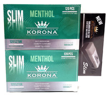 Cigarette Filter Tubes Slim Menthol Korona 2x120 + Slim Filling Machine - PROMOTIONAL PACKAGE !