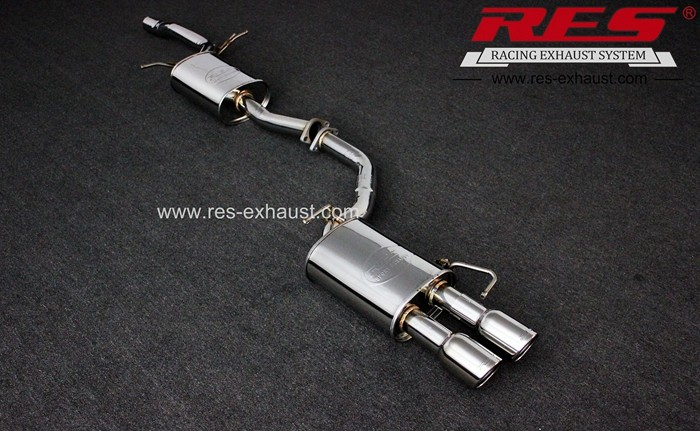 China supply gr2 titanium exhaust mid pipe for Audi A4 A5 Single-sided double-out