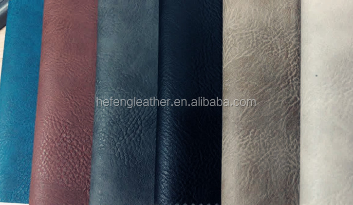 Two Tone Effect Leather Of Pvc Artificial/Synthetic Leather For Making Sofa/Seat cover/Bags