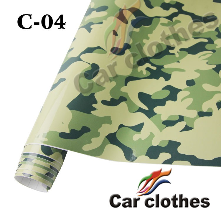 High Quality 1.52x30m self adhesive vinyl Vehicle Wrapping Camouflage Film
