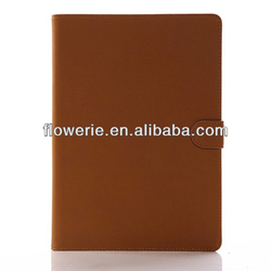 FL2706 2013 Guangzhou hot selling Luxury Genuine Real Leather Flip Case Wallet Cover for ipad air