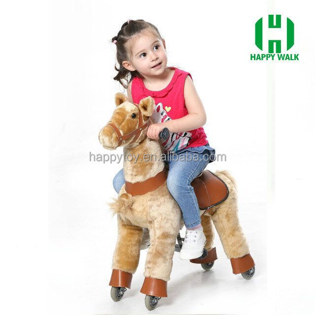 Happy Island most hot sale wood toy horse,bouncing horse toy,rocking horse handles