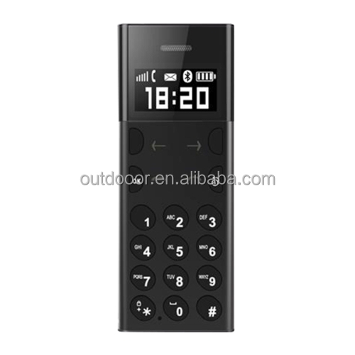 Cheap Mni Bluetooth AEKU A5 Card Mobile Phone