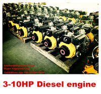 recoil or electric optional 7.6/8.6 hp small single cylinder Diesel Engine 186